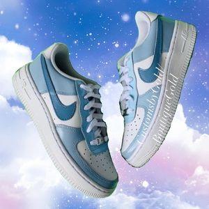 Custom Nike Air Force 1 blue 💙